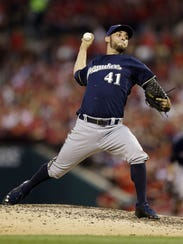 In this Aug. 2, 2014, file photo, Milwaukee Brewers