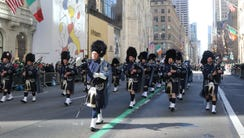 The Police Pipes and Drums of Bergen County  make their