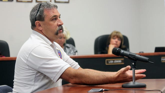 In this file photo, County Emergency Services Director Paul Quairoli speaks to Otero County Commissioners during their June 8 regular County Commission meeting.