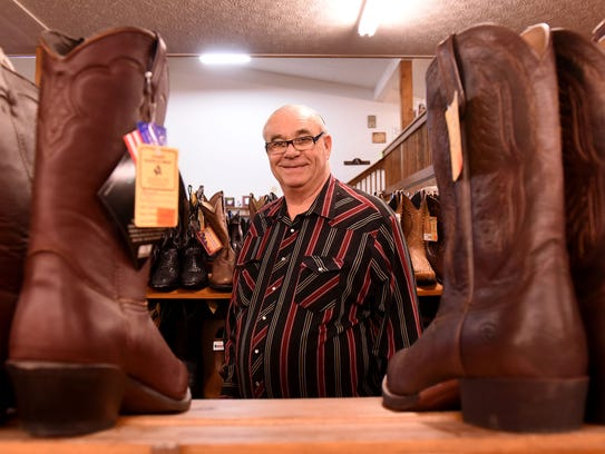 Alan Keith, owner of Keith Saddle Shop in Pataskala,
