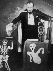 Dick DeYoung during a spooky themed performance.