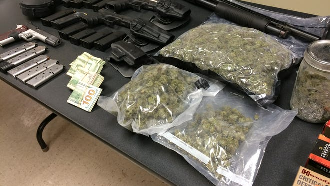 The Waynesboro Police Department made a large drug bust this winter. About a quarter of what was seized is pictured.
