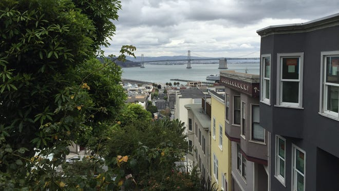 The view from San Francisco's Nob Hill.