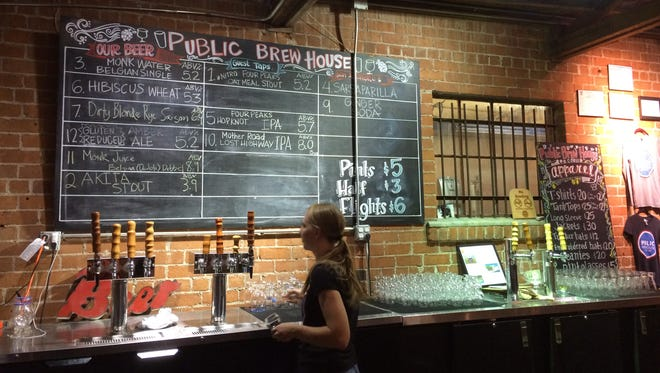 The Public Brewhouse nanobrewery is a little hard to find, tucked in a small warehouse (or is it a huge shed?) just off busy Fourth Avenue. But it's well worth finding, thanks to its adventurous menu of beers.