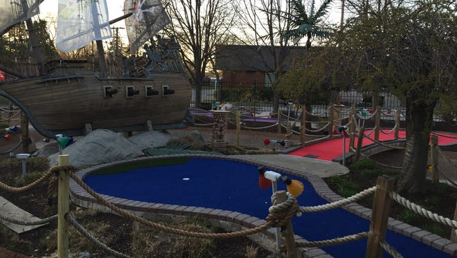 DC Sports' mini golf course is shown on Wednesday.