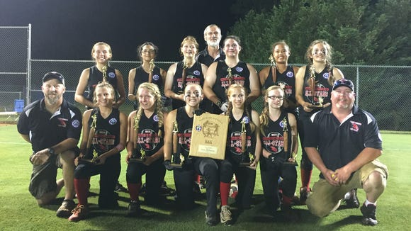 The North Buncombe 14 and under softball team won a