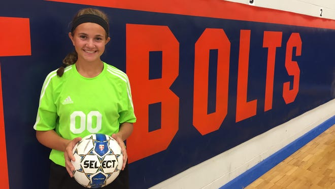 Millville goalie Megan Sooy has overcome a severe concussion to earn the starting goalie spot for the Thunderbolts.