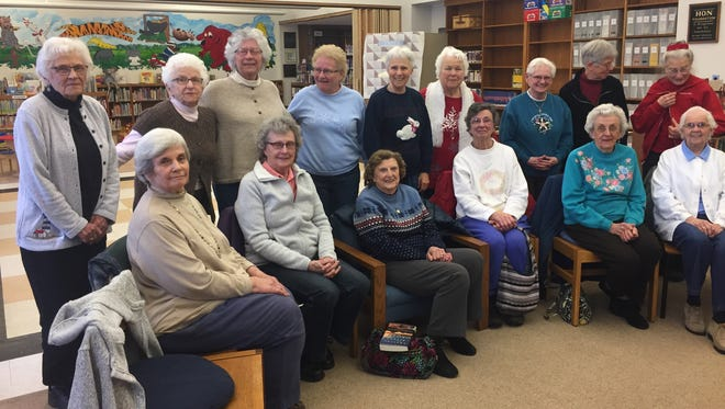 Members of the Wayland Trust in the Lives of Older Women group during a recent meeting.