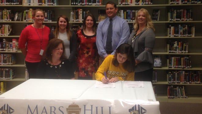 North Buncombe senior Sarah Shapiro has signed to swim in college for Mars Hill.