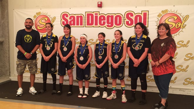 The NM Young Gunz, a youth girls basketball team from Las Cruces, won the San Diego International Games tournament title last weekend.