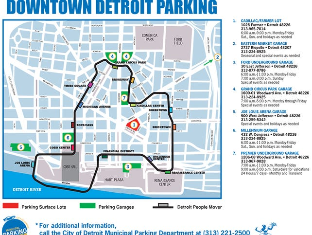 Detroit Auto Show 2016 Parking Map And Directions