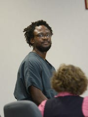Yetha Lumumba, 29, appears in Vermont Superior Court in Burlington in September 2015 for sentencing.