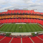 A general view of FedEx Field prior to the game between the Washington Redskins and the Philadelphia Eagles.