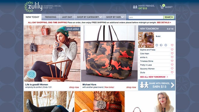 Zulily sells clothes, shoes and a variety of items online.