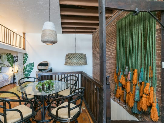 Charity Evan's Commercial Street Airbnb loft on January 24th, 2018.