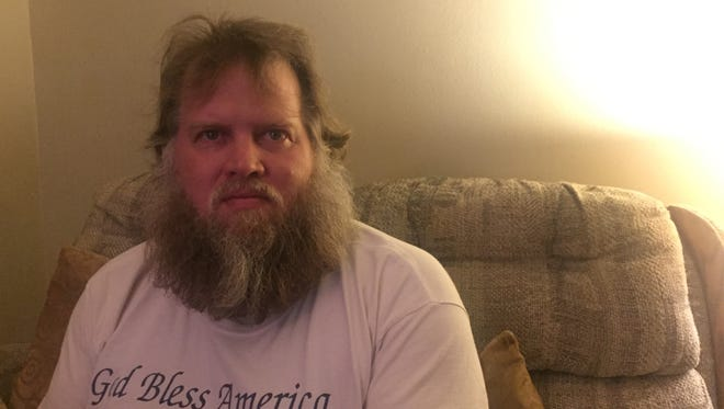 Jim Thomas of Nashville used to be homeless. Even though he now has an apartment, not having a driver's license makes visiting food banks difficult.