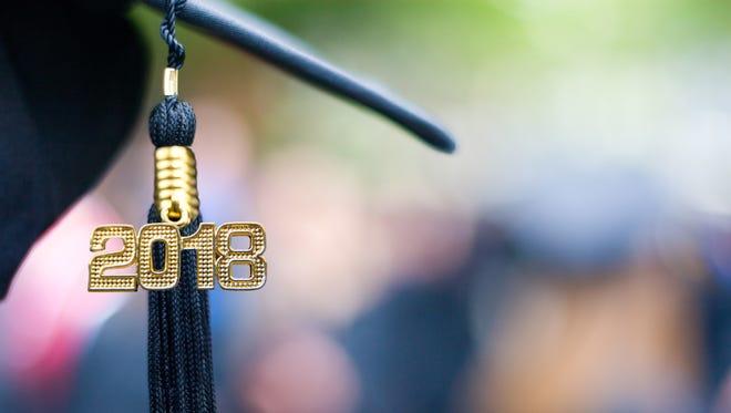 A 2018 graduation tassel.