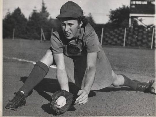 Dorothy Kamenshek, a Norwood native, started playing softball at age 12. Dorothy Kamenshek, a Norwood native, started playing softball at age 12.