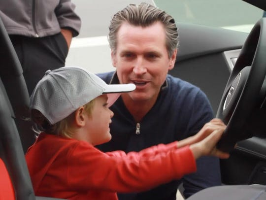 California Lt. Gov. Gavin Newsom, shown here with his