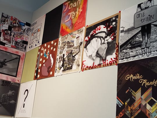 "Visiting artist Michael Hubbard's new exhibit ""Mixtape"" has created a set of mixtapes dedicated to depicting the punk rock ""Riot Grrl"" bands of the 1990s and showcasing strong women throughout history. The art is is on display at Salisbury University."