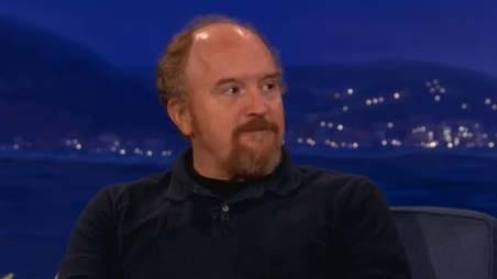 Comedian Louis C.K. told Conan on his Sept. 19 show that we all look down at our phones too much.