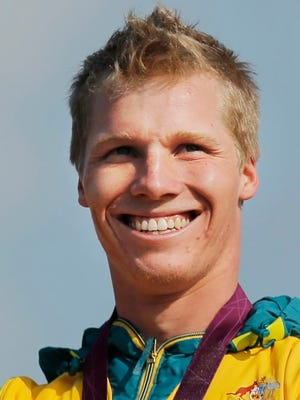 Australia BMX racer Sam Willoughby after winning the silver for the men's BMX cycling at the 2012 Summer Olympics in London.