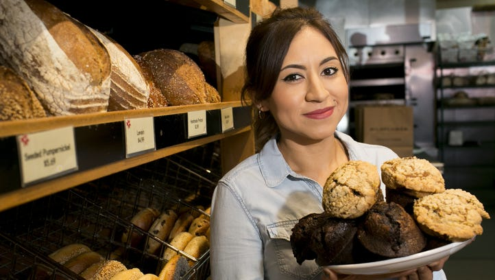 Claudia Gutierrez, a DACA recipient and the head pastry