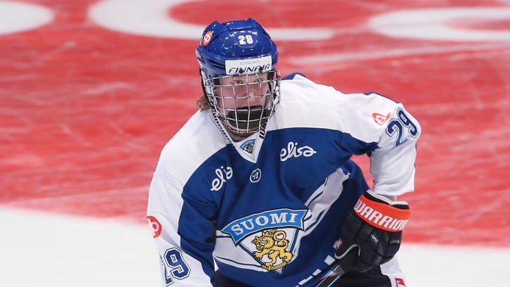 Patrik Laine had 17 goals and 16 assists in 46 games in the Finnish Elite League (SM-liiga).