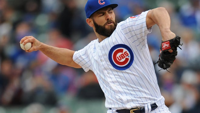 Jake Arrieta's bid to become the second pitcher to throw consecutive no-hitters ended in the first at-bat.