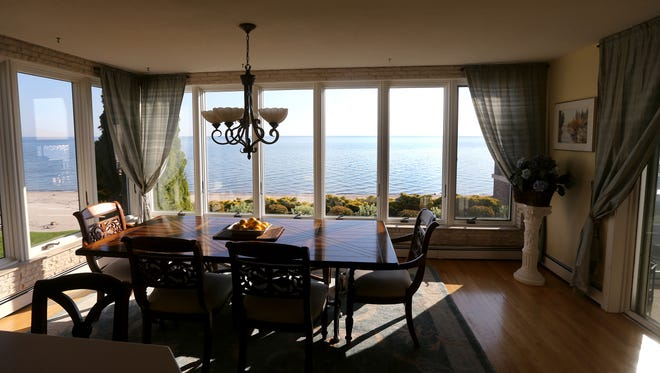 The view from the kitchen table of Lake Ontario from Paul and Teresa Lipari's Beach Ave. home.