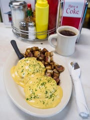 Eggs Benedict at the Parkway Diner in South Burlington