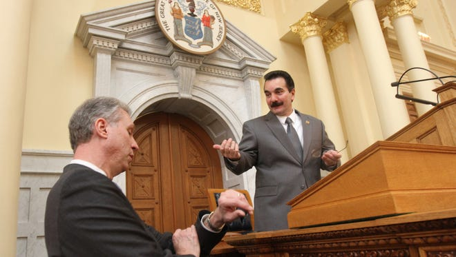 Assemblyman John Wisniewski (left) and Assembly Speaker Vincent Prieto are seeking to get New Jersey's minimum wage raised to $15 an hour.