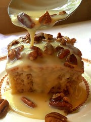 Southern Pecan Praline Cake is easy to make and freezes beautifully.
