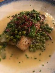 Striped Sea Bass, a daily special at Zuzul Coastal Cuisine.