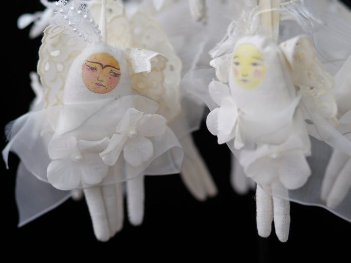 Little angles are available at Lulu Moonwood Murakami's at the Salem Art Fair on Saturday, July 19, 2014. Listed at $18, they are a affordable find.