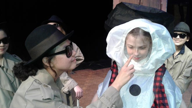 Emie Shaw as a Mole and Snowman Avery Williams.