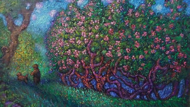 """Poor Farm Lane,"" by artist Milton Brightman."