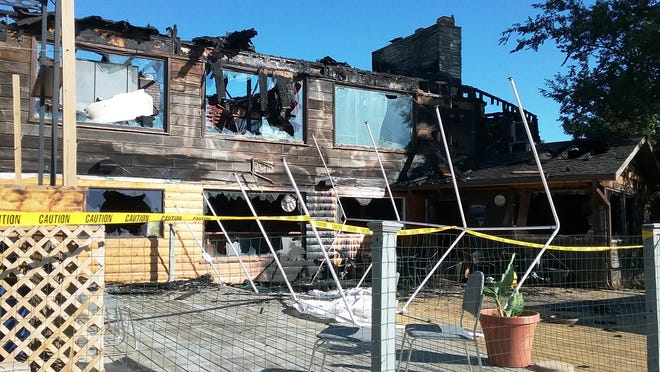Charred remains are what's left of Jonesy's Ranch House, a landmark restaurant-bar-motel complex in Bureau Junction. A fire Friday resulted in a total loss, according to a local official.