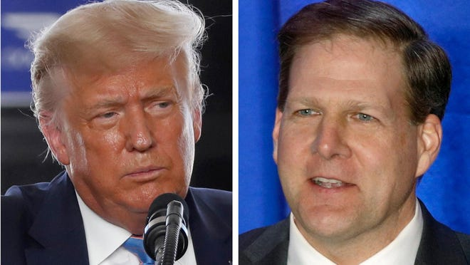 President Donald Trump is scheduled to appear Friday in Manchester, where Gov. Chris Sununu plans to greet him without staying for a rally.