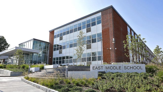 The newly renovated and expanded East Middle School in Braintree on Tuesday August 11, 2020 Greg Derr/The Patriot Ledger