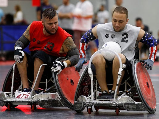 meet disabled veterans competing in town this week