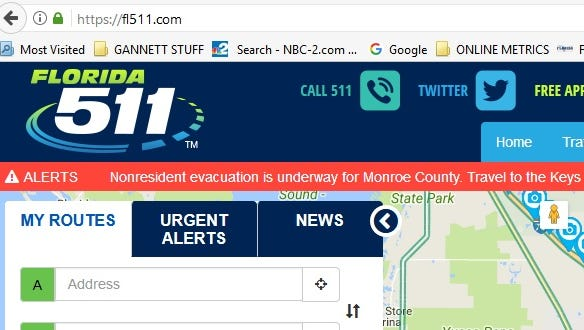 The Florida 511 web site was slowed by a huge traffic spike on Wednesday.