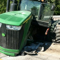 Man killed in crash with farm tractor in Hendricks County