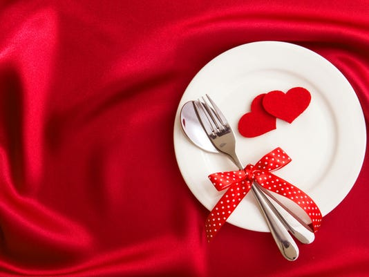 red heart shape with White empty plate