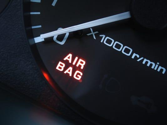 air bag alarm  (triggered?)