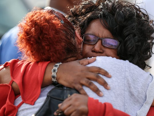 Vigil for Sheriff Jallow at 3405 North Sherman Shell gas station
