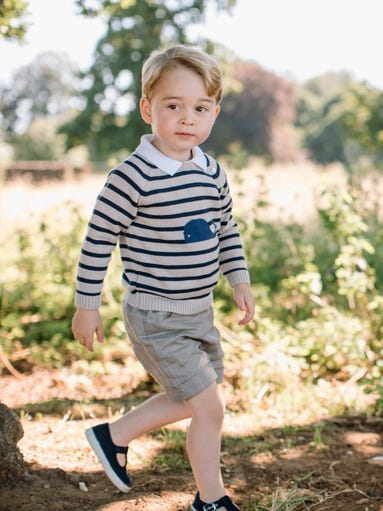 Prince George turned 3 on July 22, 2016, and his proud