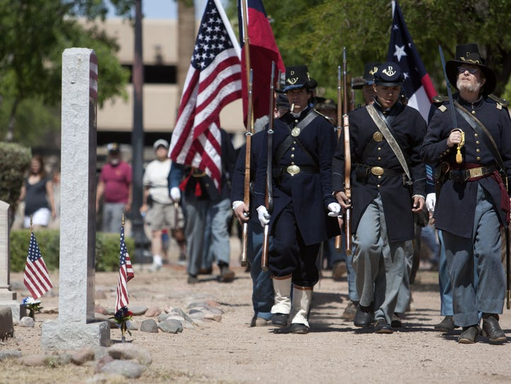 The Arizona Civil War Council marches  during the 28th