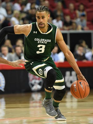 CSU's Gian Clavell, the Mountain West Player of the Year, worked out Monday for the Denver Nuggets.