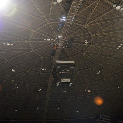The ceiling and catwalk at the Brown Count Veterans